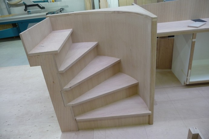 CnC stair assembly